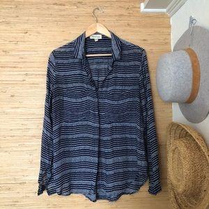 CLOTH & STONE polka dot blouse Sz L